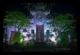 Puri Lukisan Museum at night, Ubud