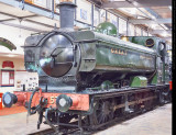 GWR Pannier Tank No 5764 at Highley Museum, SVR