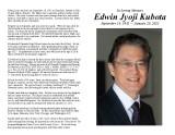 Edwin Kubota - Memorial Program 2-20-21