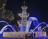 Tashkent flower festival at night