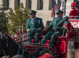 Budweiser Clydesdales and their Dalmatian mascot