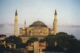 Hagia Sophia from our hotel balcony