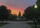 Abe Lincoln and the sunrise