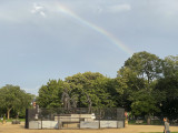 Mysterious rainbow over Lincoln Park