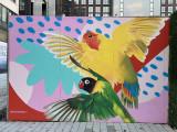 Red Swan mural in NoMa