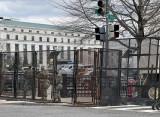 Dirksen Senate Office Building behind bars