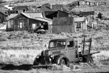 Bodie Ghost Town in black and white