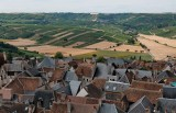 Sancerre and surroundings; view from the tour.
