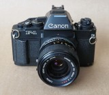 The Canon F1n; new and last version; mechanical and electronic shutter; manual and automatic.
