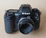 The Nikon F100; an advanced camera, very pleasant to use.