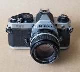 The Nikon FM2 (1982); the shutter can reach 1/8000 s, high peformance for the time.