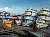 The Manaus harbor and their boats.