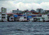 Seen from a boat, Manaus area. We started our trip to the hostel.