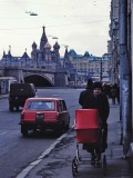 Moscow : approaching the St.Basil's Cathedral
