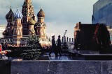 Moscow : St.Basil's Cathedral and Lenin's Mausoleum.