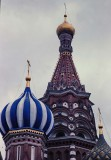 Moscow : detail of the  St.Basil's Cathedral.