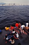 On the ferry boat; liaison Niteroi-Rio de Janeiro.