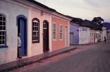 Ribeirão da Ilha (approx. 1985); Sr. Marivaldo at the door.