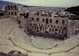 Athens; the ruins near the Parthenon.