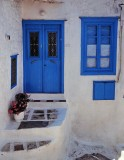 Greece; typical house of the island.