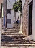 Greece; visiting an island.