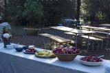 Wedding morning breakfast spread