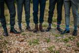 Hand knit socks for groomsmen