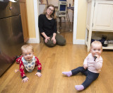 Babies in the kitchen