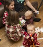 Baby gift opening