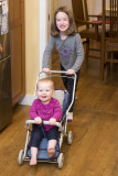 Doll stroller gets a workout