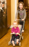 Nell with Dorothy in the doll stroller