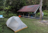 our tent at the Korokoro campground