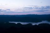 Sunset view of the lake from Panekire Hut