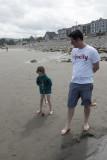 Crocket on the beach