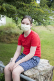 Josie with mask