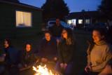 Firelit faces