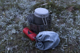 Frosted camp stove