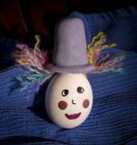 Funny hair egg