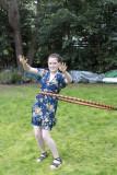 Josie hula-hoops