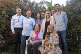 Oma, her sons, German grandkids and partners
