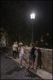 My wife and 3 children after dinner on Isla Tiberina, Rome...:-)