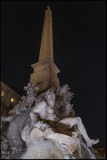 From Piazza Navona at night...