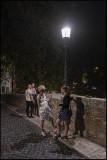 On Isla Tiberina after dinner in Trastevere..