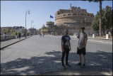 My two sons at Castello St.Angelo