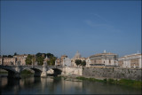 View towards St.Peter`s from Ponte St.Angelo