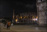 Scenes from Colloseum at night....
