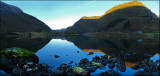 Last light.Panorama from Modalen, Norway....