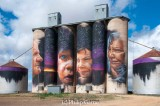 Silo art by 'adnate' at Sheep Hills