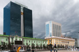 Older public buildings on Sukhbaatar Square date from the Soviet era