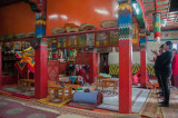 Buddhist prayers underway within Erdene Zuu Monastery, Kharkhorin, Mongolia